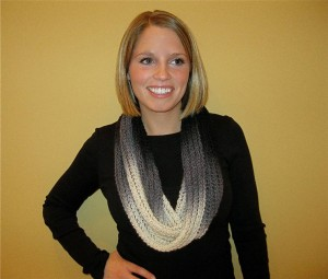 Striped Infinity Scarf Free Pattern Knit Purl Hunter