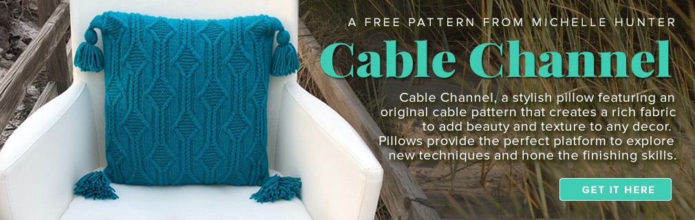Cable Channel Pillow Pattern graphic